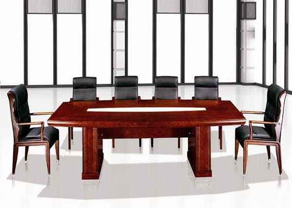 工业风圆形会议桌