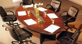 实木椭圆形会议桌