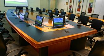 升降显示器会议桌
